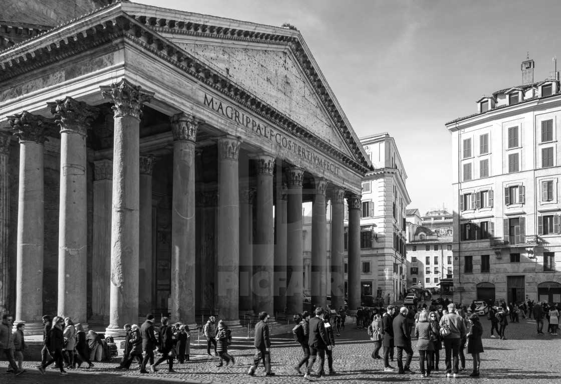 """The Pantheon Exterior 1"" stock image"