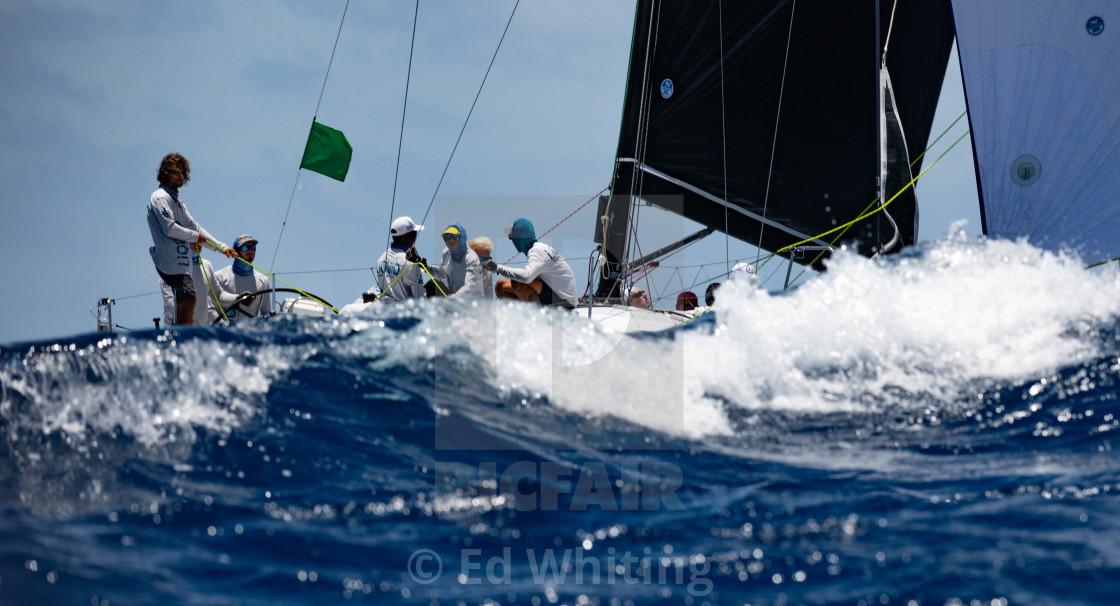 """""""Liquid at Antigua Sailing Week"""" stock image"""