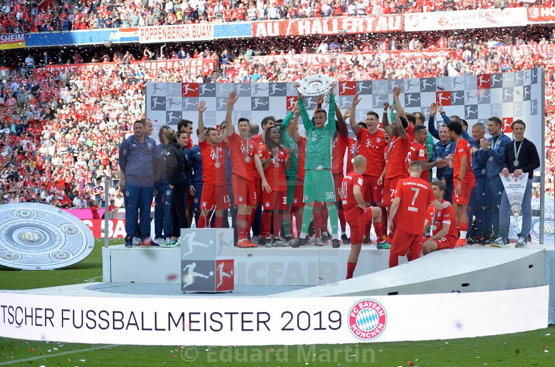 """Fussball 1.Bundesliga, FC Bayern Muenchen - Eintracht Frankfurt"" stock image"