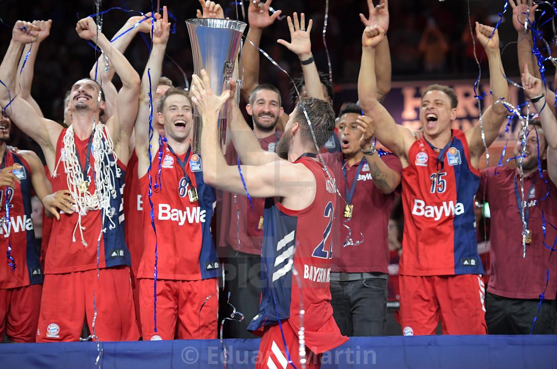"""Basketball BBL Playoff Finale Spiel 3, FC Bayern Basketball - Alba Berlin"" stock image"