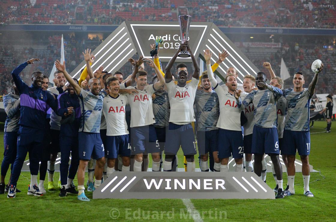 """Fussball Audi Cup 2019 Finale, FC Bayern Muenchen - Tottenham Hotspur"" stock image"