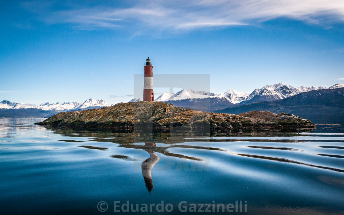 """The Lighthouse at the end of the world."" stock image"