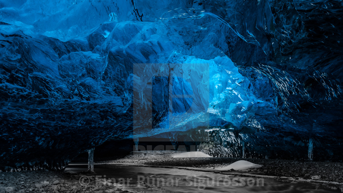 """Crystal Ice Cave HD"" stock image"