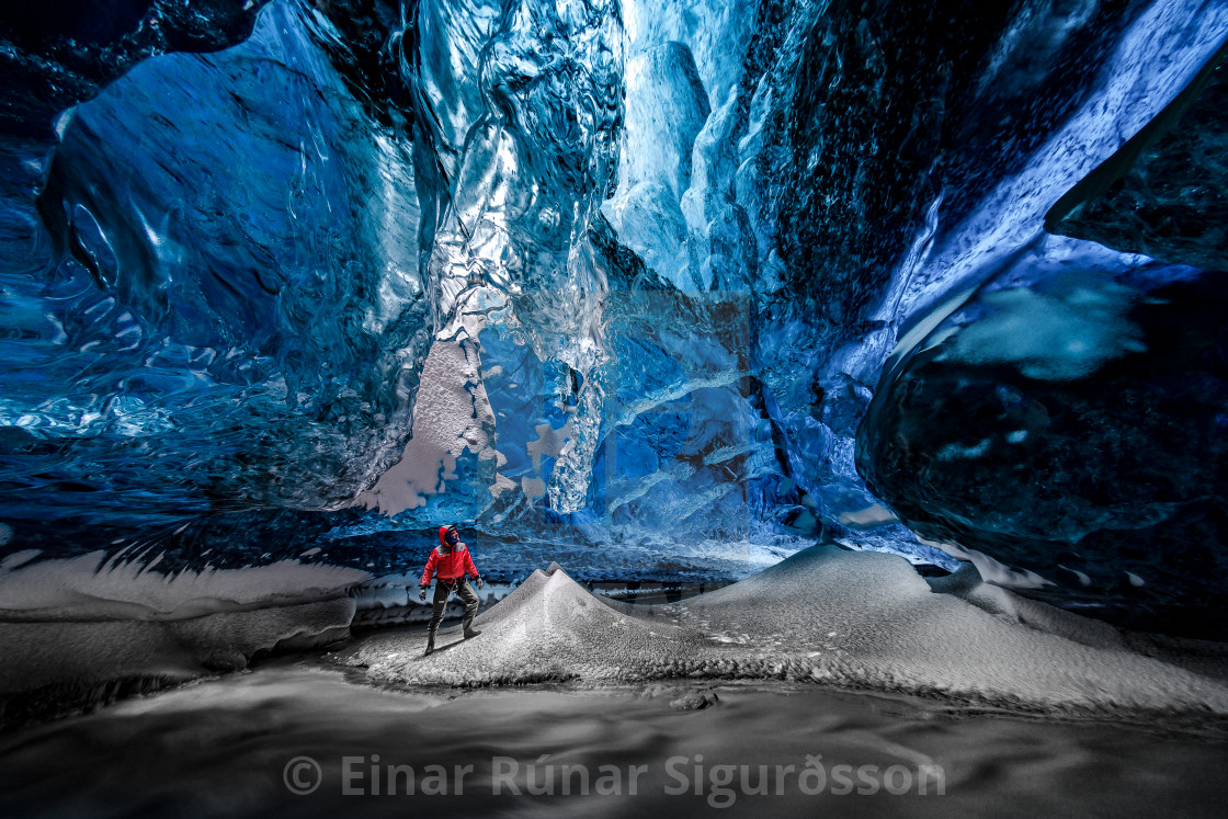 """Lightroom in Crystal Ice Cave"" stock image"