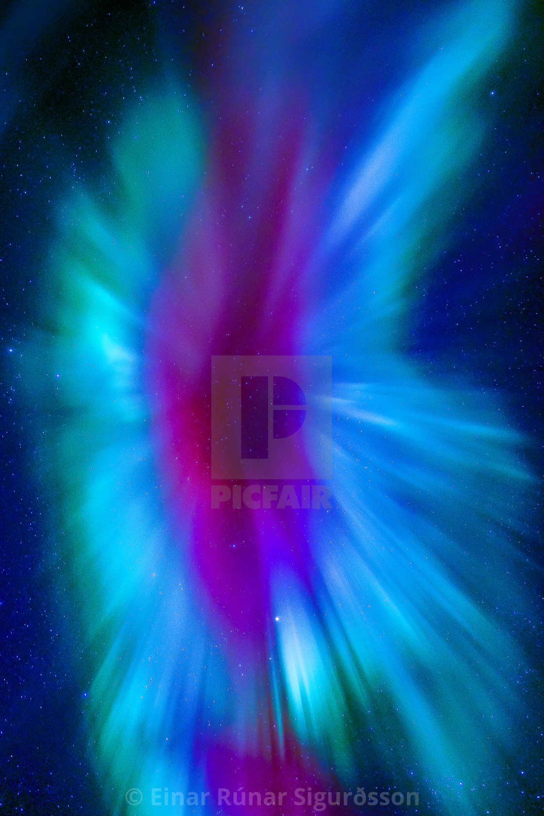 """""""Abstract from Aurora Borealis"""" stock image"""