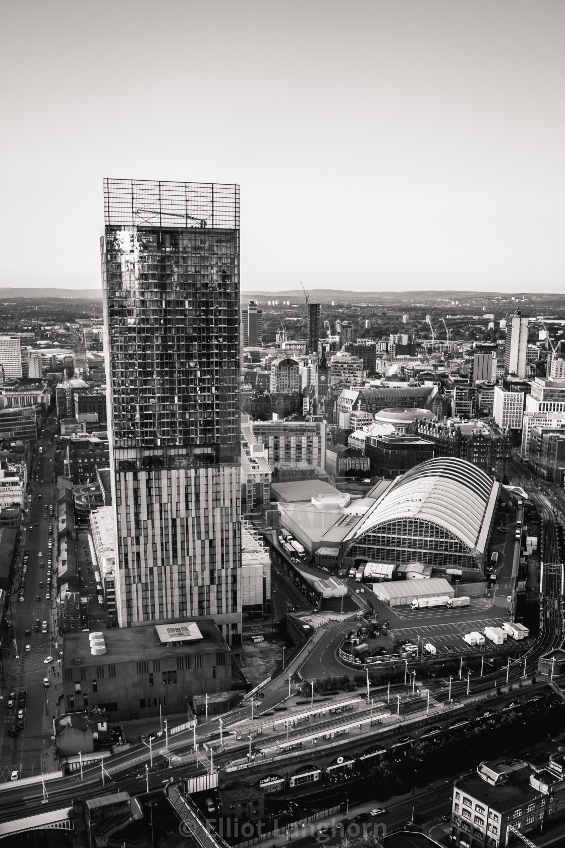 """""""Deansgate B&W"""" stock image"""