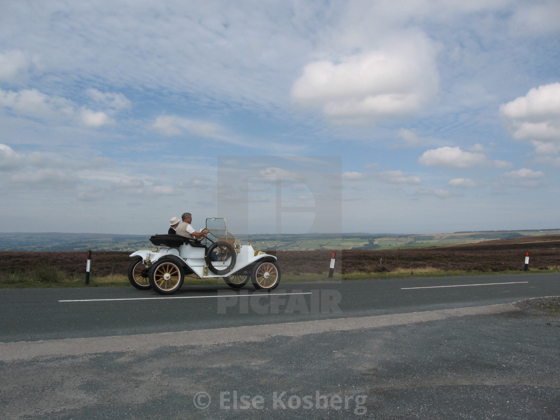 """""""Old car on the moors in Yorkshire"""" stock image"""