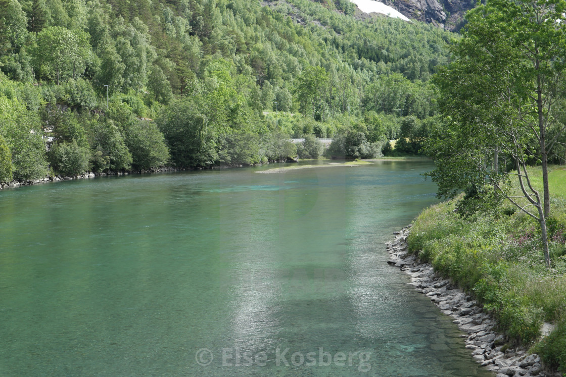 """The Rauma river in Norway"" stock image"