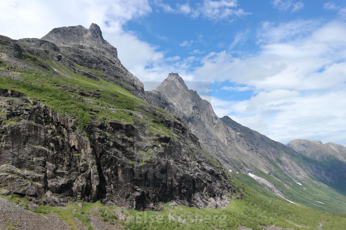 """""""Mountains near Trollstigen, Norway"""" stock image"""