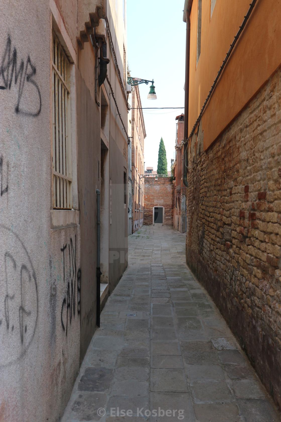"""""""Narrow street in Venice"""" stock image"""
