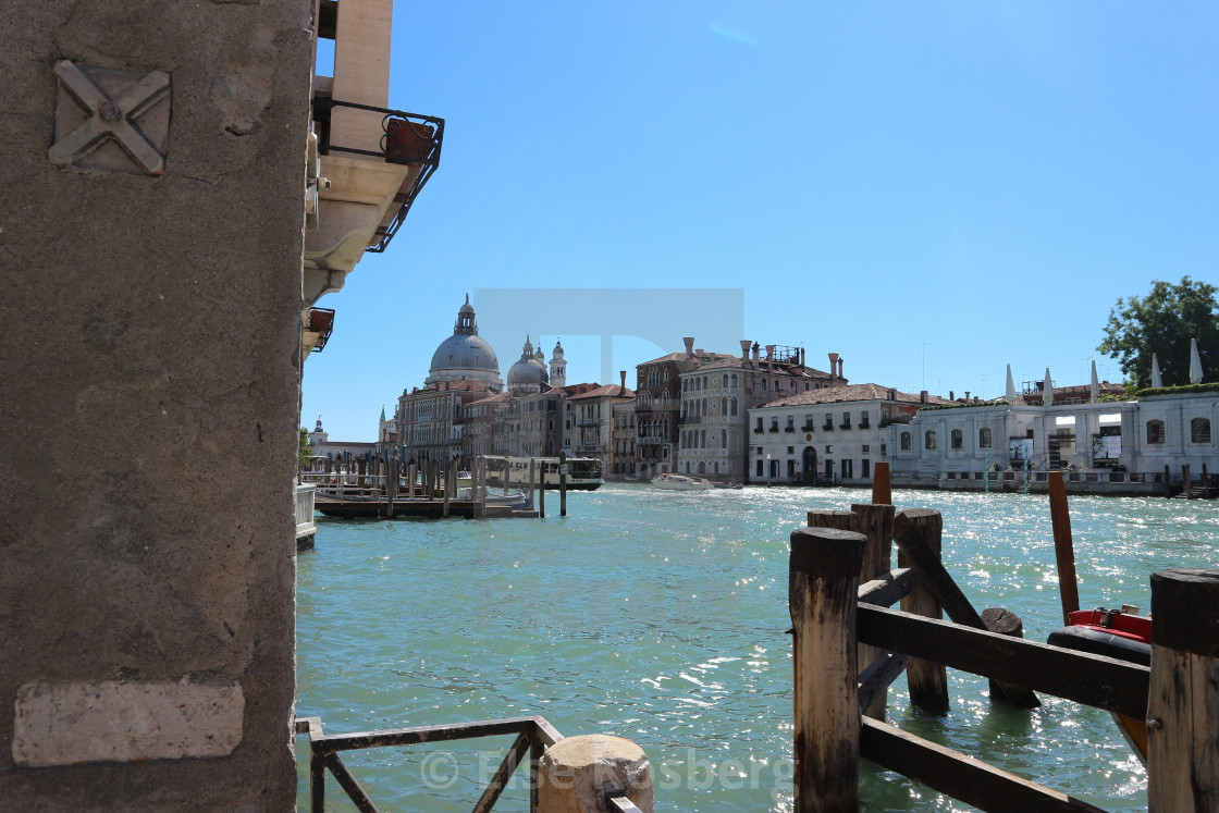 """View to the Canal Grande in Venice"" stock image"