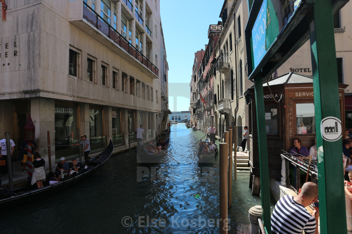 """""""Canal in Venice, Italy"""" stock image"""