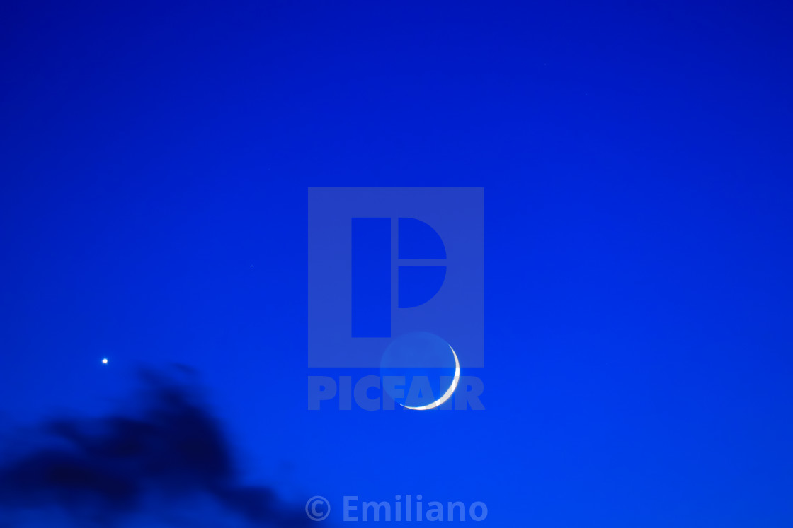 """""""Moon and Venus perfection"""" stock image"""