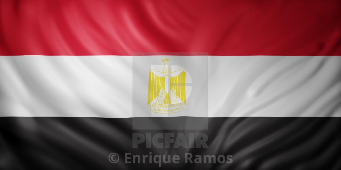 """""""Egypt 3d flag"""" stock image"""