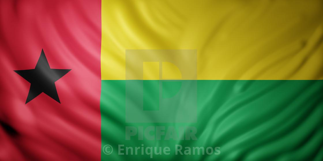 """""""Guinea-Bissau 3d flag"""" stock image"""
