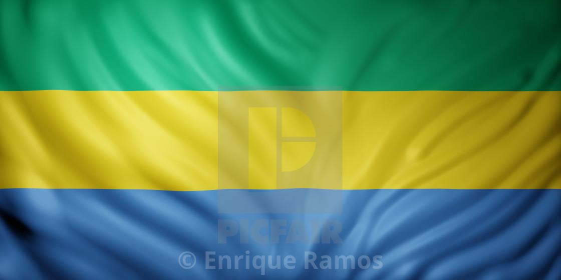 """Gabon 3d flag"" stock image"