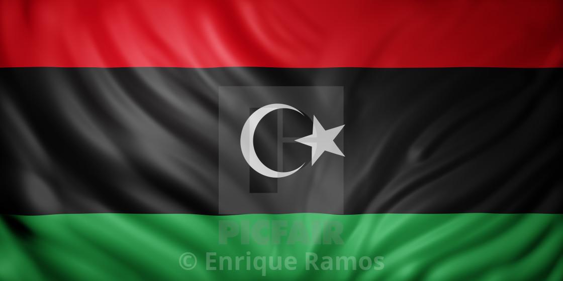 """Libya 3d flag"" stock image"