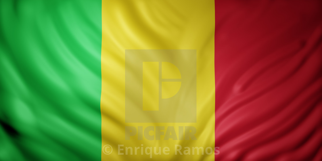 """Mali 3d flag"" stock image"