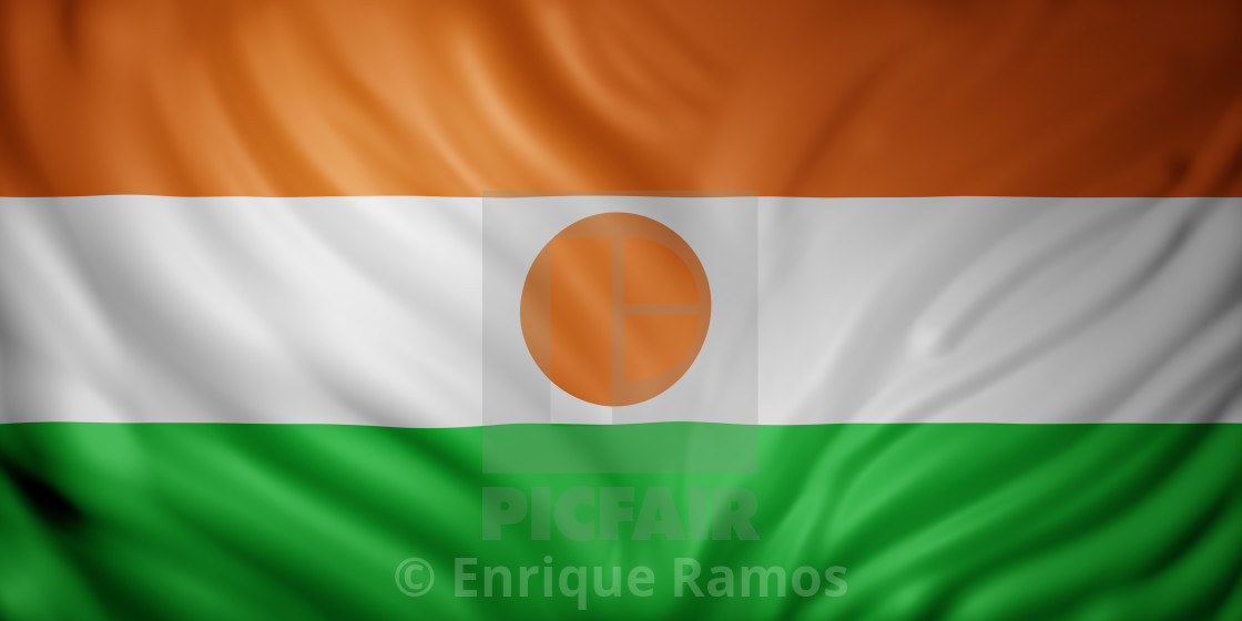 """Niger 3d flag"" stock image"