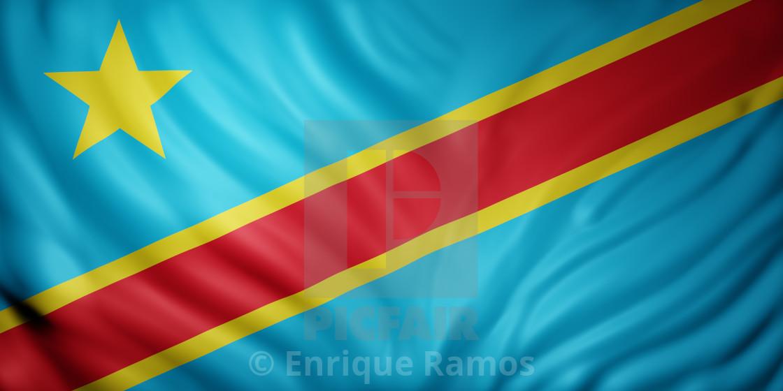 """Democratic Republic of Congo 3d flag"" stock image"