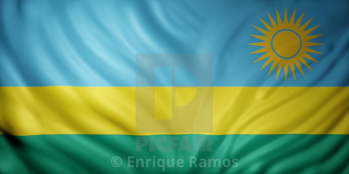 """""""Rwanda 3d flag"""" stock image"""