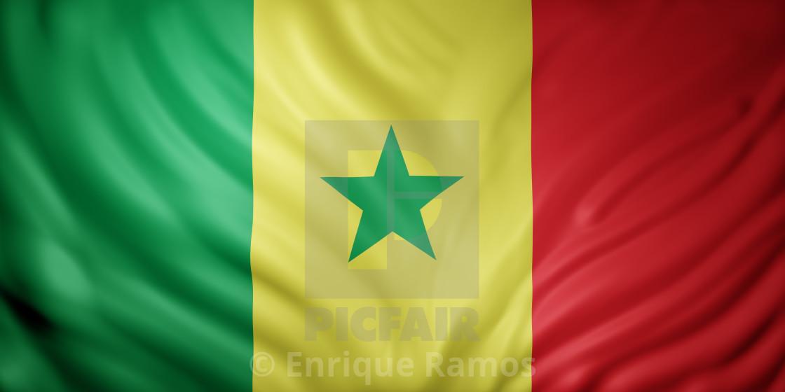 """Senegal 3d flag"" stock image"