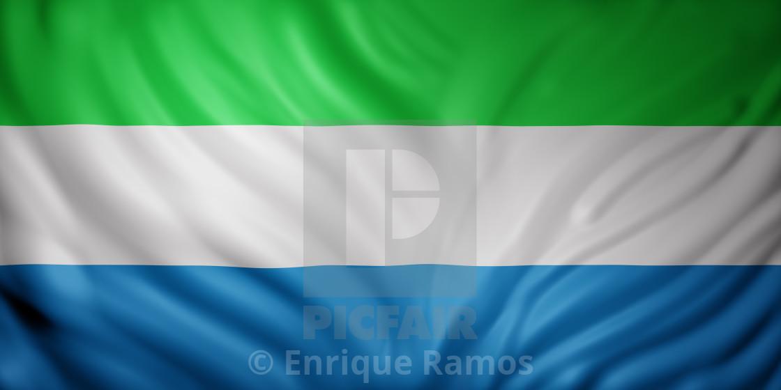 """""""Sierra Leone 3d flag"""" stock image"""