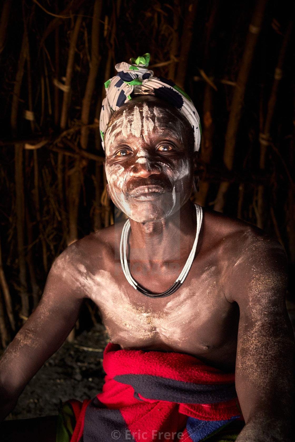 """""""Mursi tribesman at home"""" stock image"""
