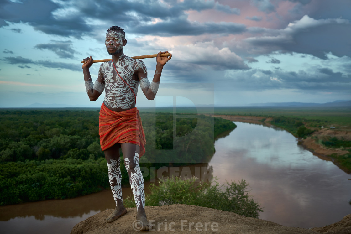 """Sunset over the Omo River"" stock image"