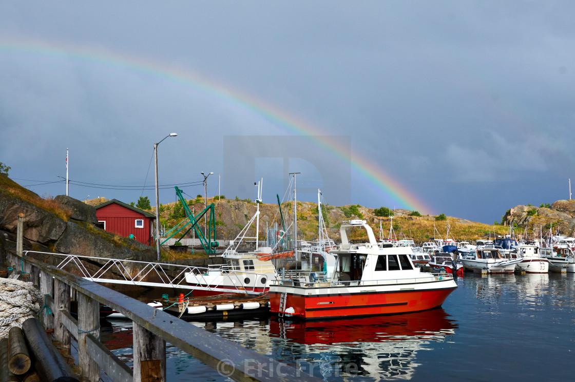 """Eggum Fishing Village"" stock image"