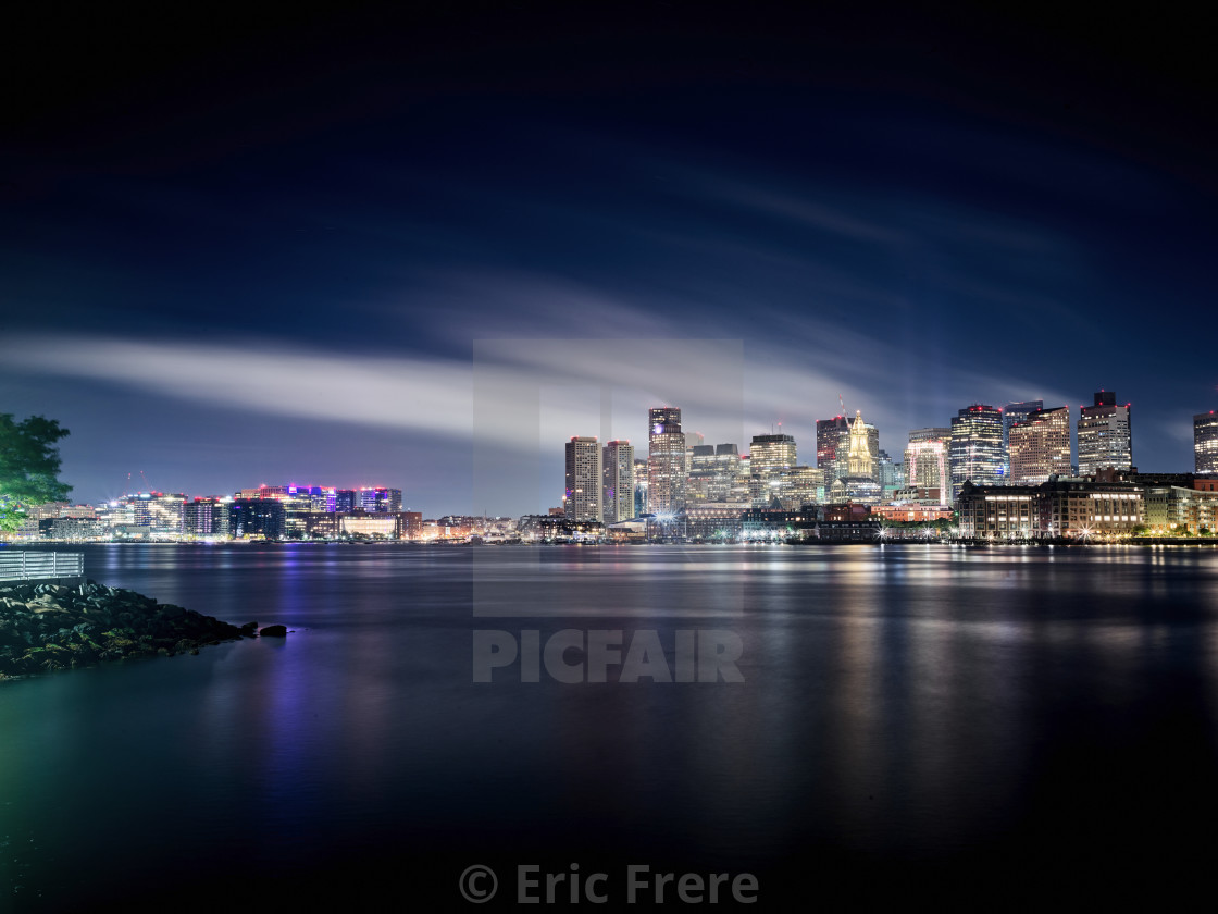 """Boston Skyline"" stock image"