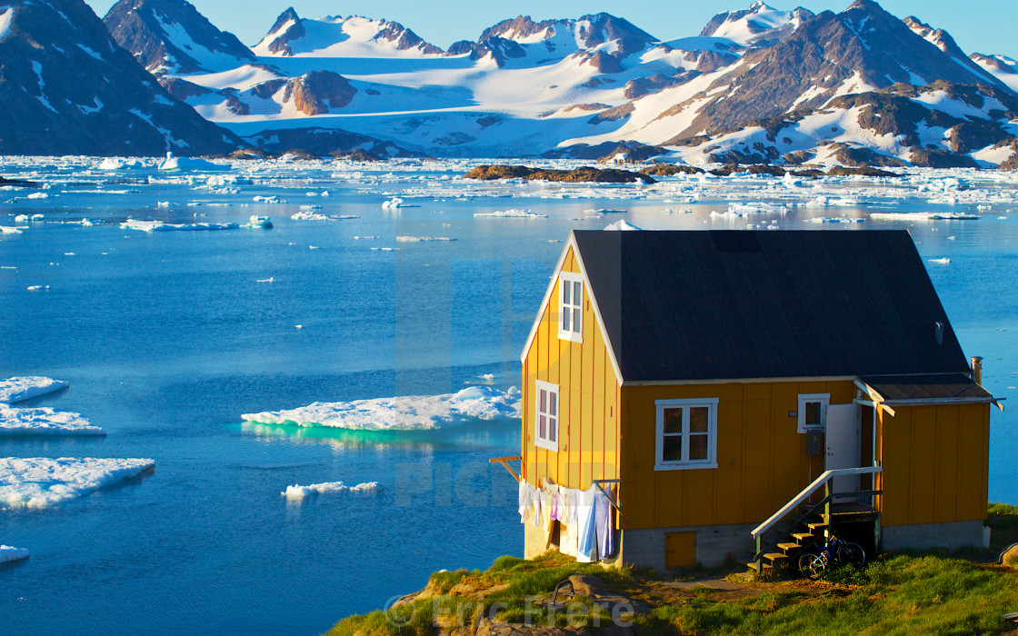 """Home in Kulusuk, Greenland"" stock image"