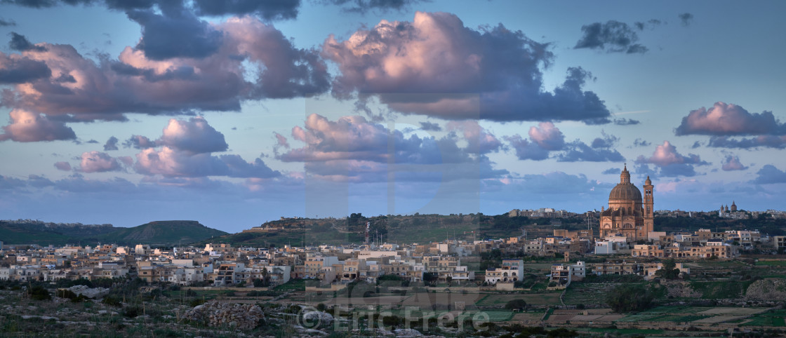 """St. John Baptist Church, Xewkija, Gozo, Malta"" stock image"