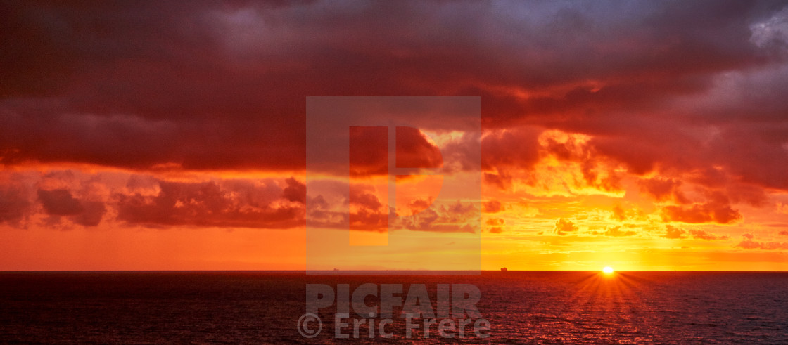 """Sunrise Before the Storm"" stock image"