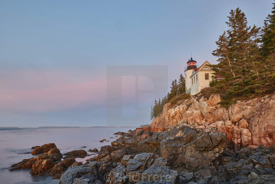 """Bass Harbor Head Lighthouse"" stock image"