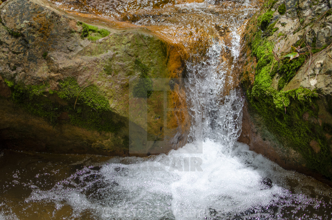 """""""Waterfall of river water"""" stock image"""