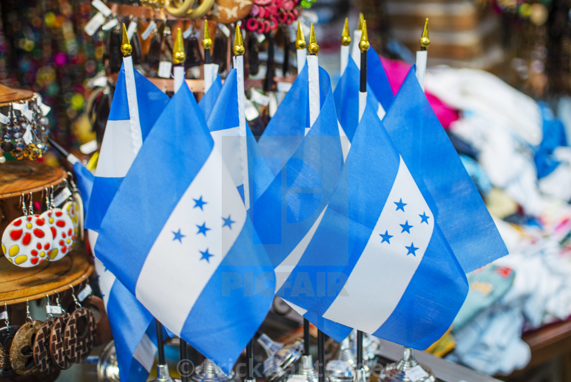 """Flags of Honduras"" stock image"