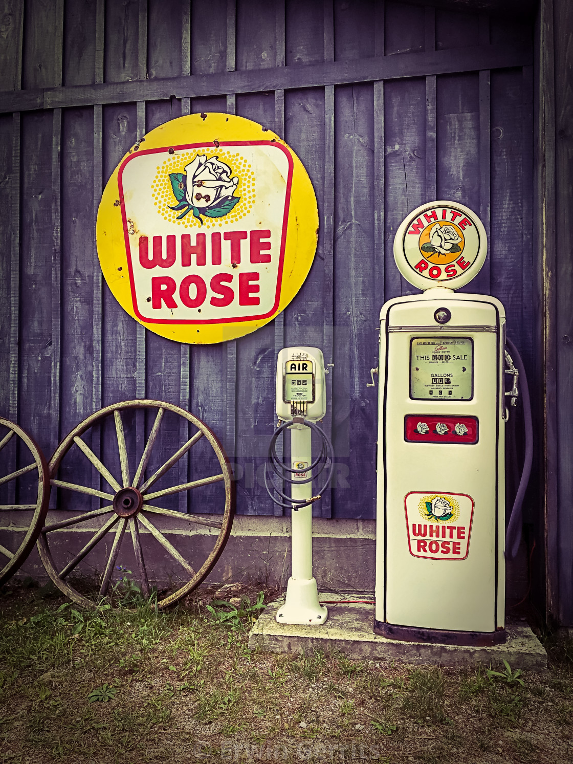 """Vintage Gas Pump"" stock image"