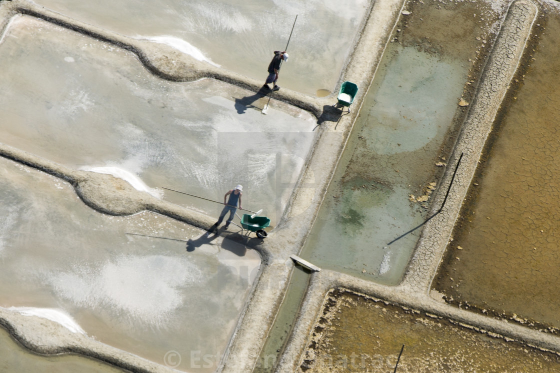"""""""Aerial view of the salt lakes"""" stock image"""