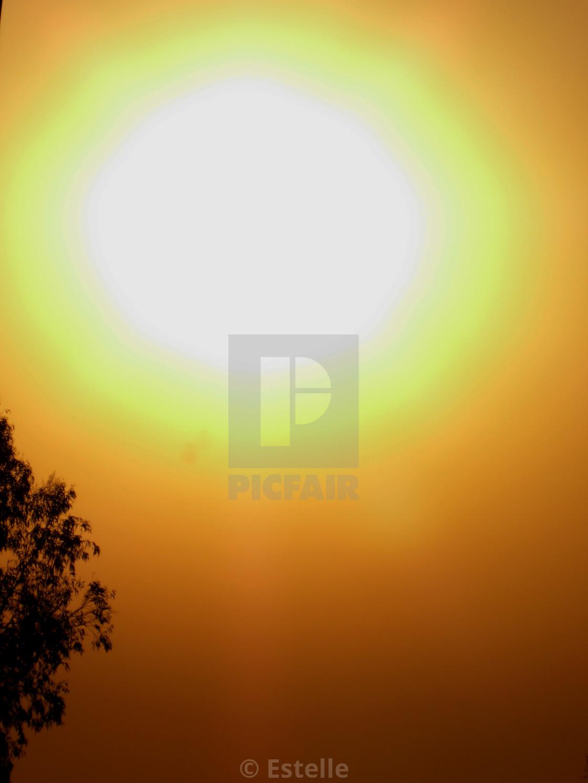 """Sunset light"" stock image"