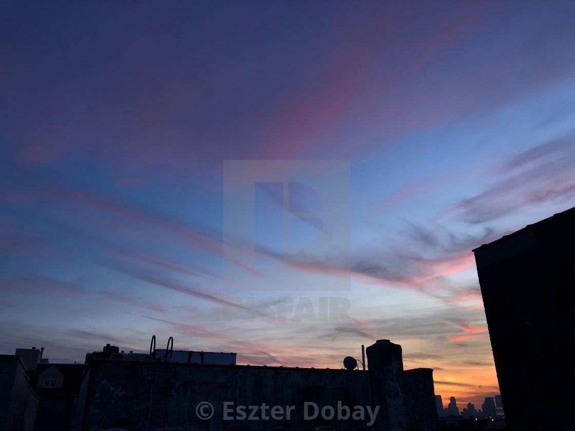 """""""Williamsburg dusk"""" stock image"""
