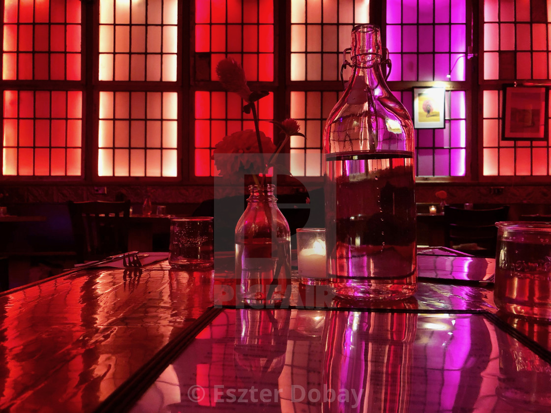 """""""Red night out"""" stock image"""