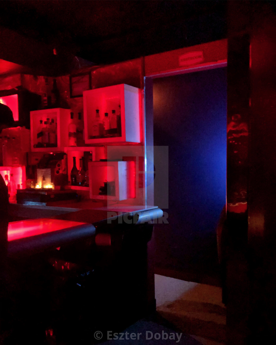 """""""Red-blue room, Bar13, 2020"""" stock image"""