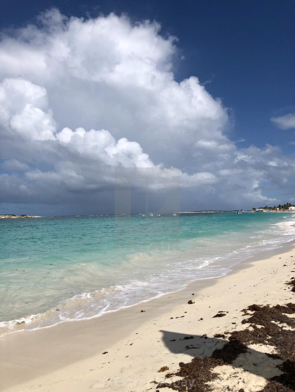 """St Martin beach"" stock image"