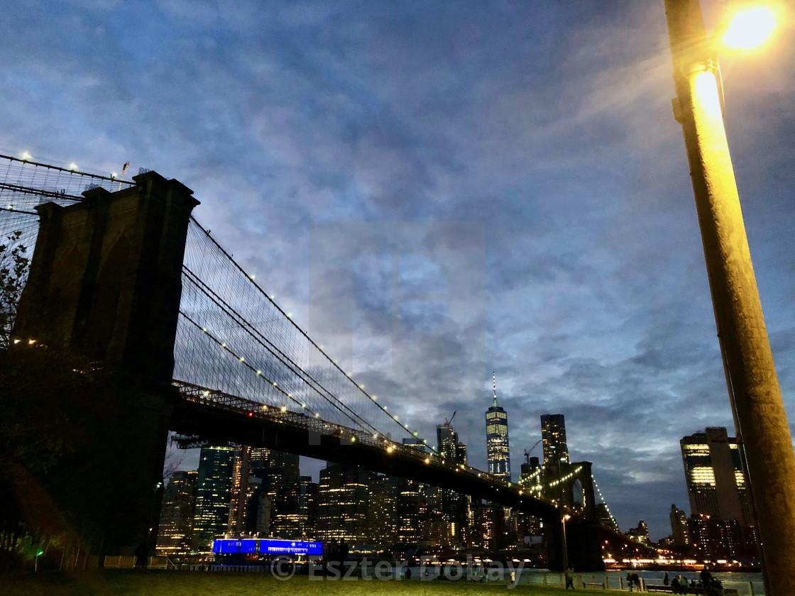 """Brooklyn Bridge, 2019"" stock image"