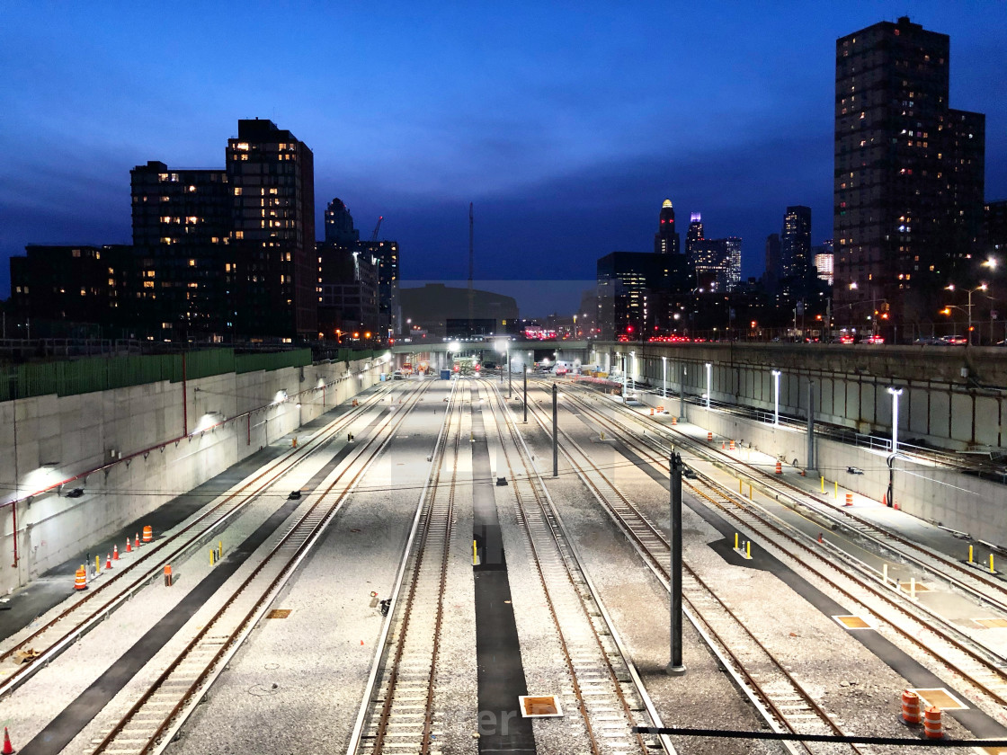 """Empty tracks, Brooklyn, before lockdown 2020"" stock image"
