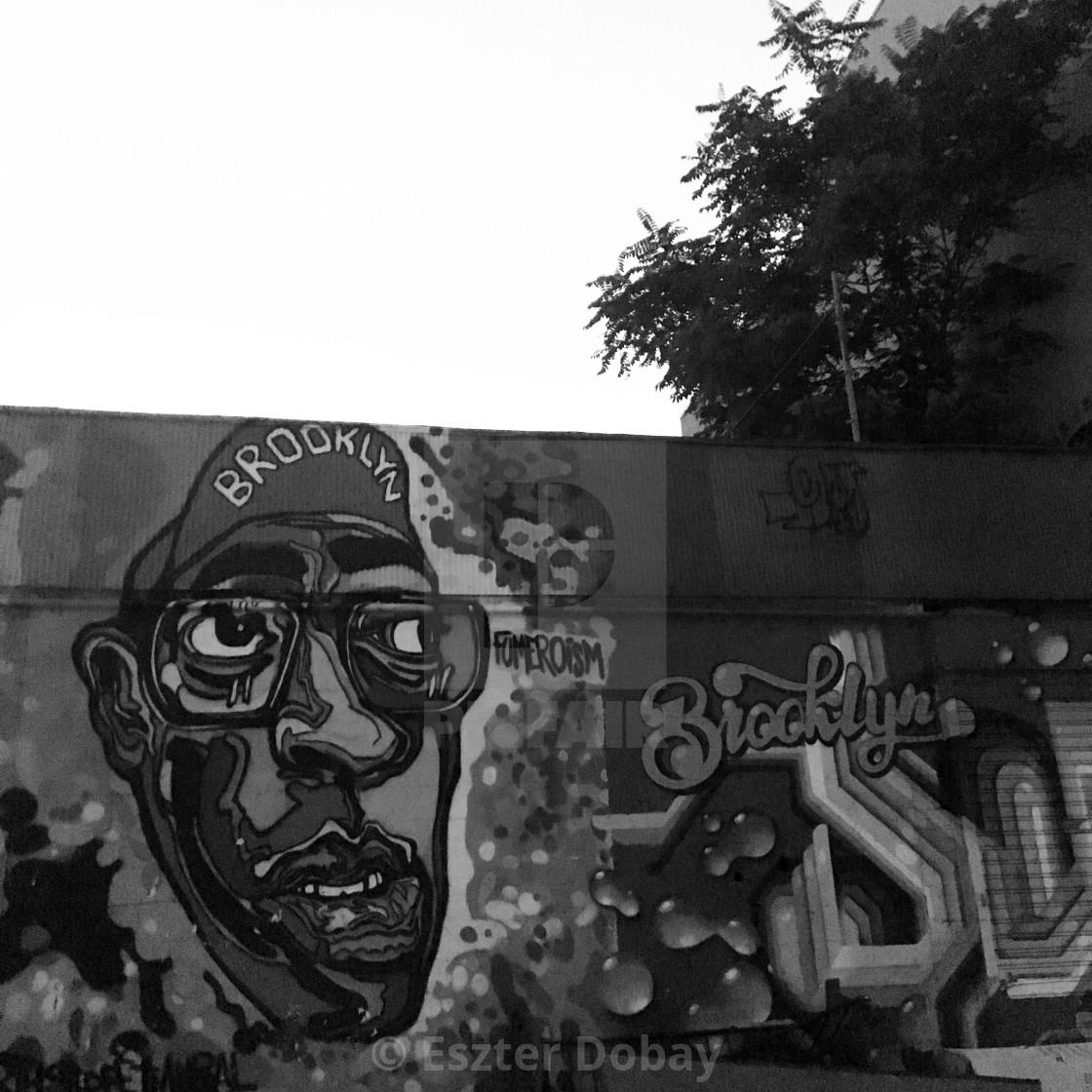 """Spike Lee mural, Brooklyn, 2019"" stock image"