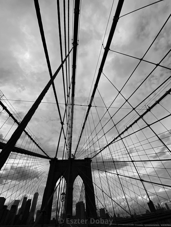 """""""Brooklyn Bridge, 2020 NY"""" stock image"""