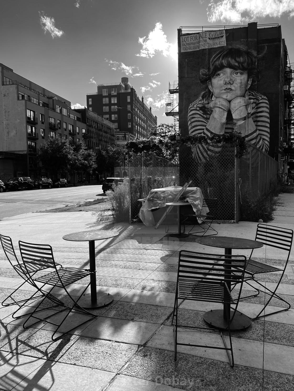 """Lonely 'MONA LISA OF WILLIAMSBURG', 2020, BROOKLYN, NY"" stock image"