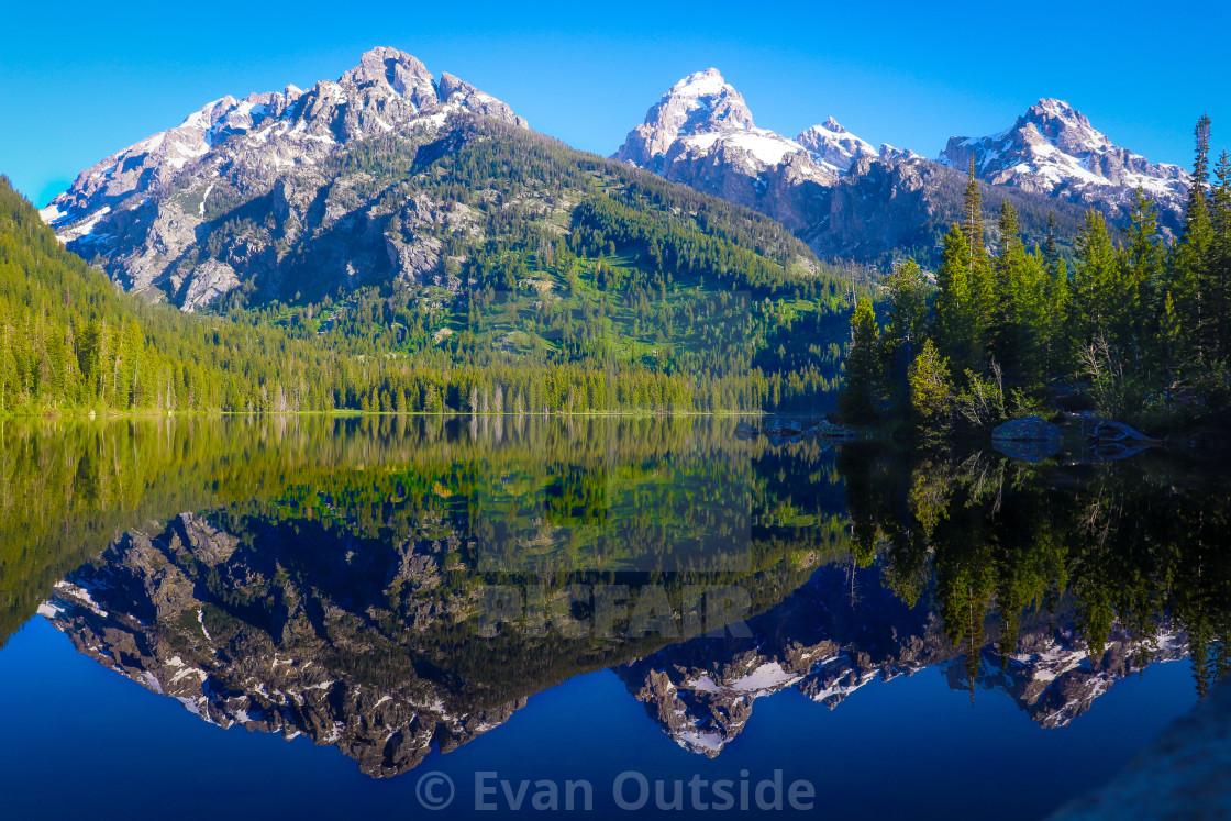 """Taggart Lake. Grand Teton National Park, Wyoming."" stock image"
